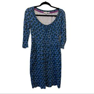 4.99 🚚Boden Blue long sleeved dress